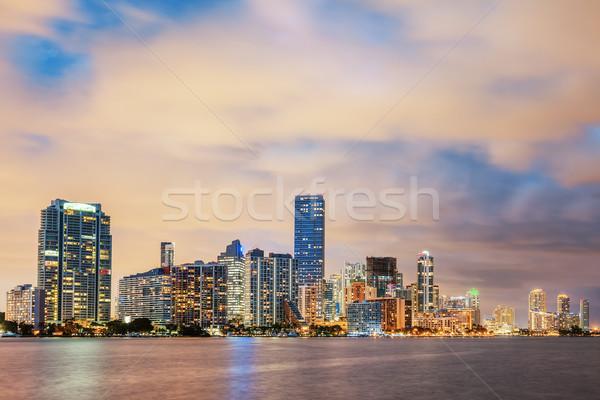 Miami Florida, summer sunset Stock photo © vwalakte