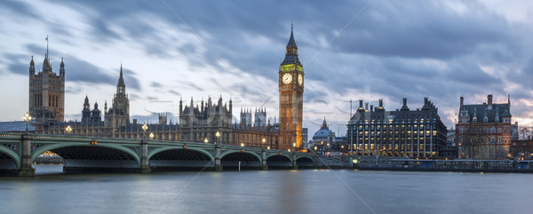 Panoramic view of Big Ben Stock photo © vwalakte