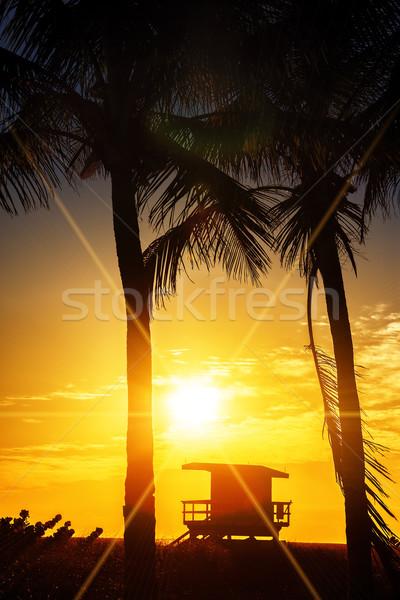 Miami South Beach sunrise Stock photo © vwalakte