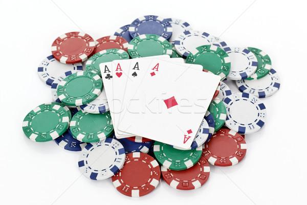 poker chips Stock photo © vwalakte