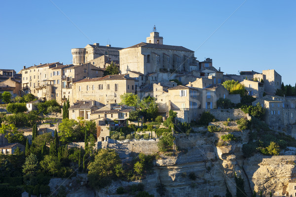 View of famous Gordes medieval village Stock photo © vwalakte