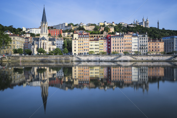Beautiful view of Saone river in Lyon Stock photo © vwalakte