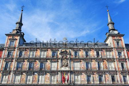 View of famous Plaza Mayor Stock photo © vwalakte