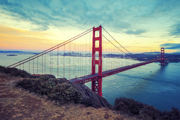 Golden Gate Bridge, special photographic processing. Stock photo © vwalakte