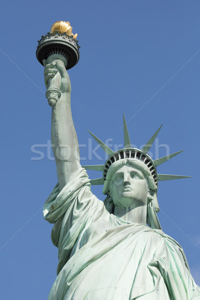 Famoso estátua liberdade Nova Iorque verde rio Foto stock © vwalakte