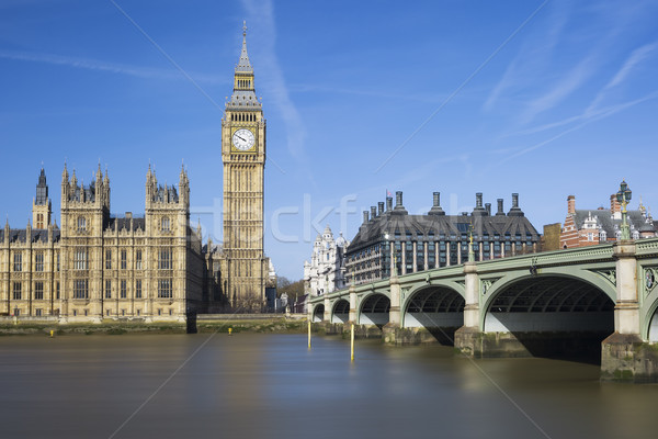 View of Big Ben and Houses of Parliament Stock photo © vwalakte