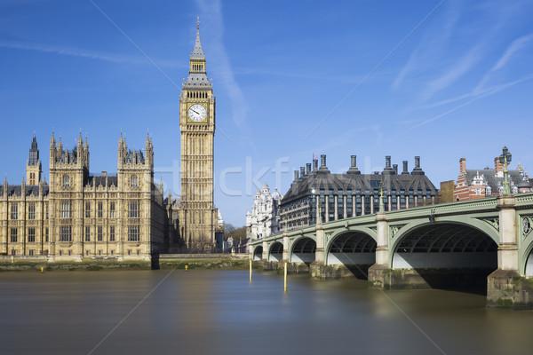 表示 ビッグベン 住宅 議会 ロンドン 水 ストックフォト © vwalakte