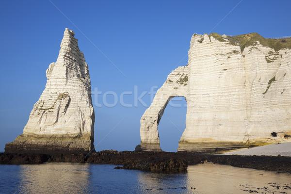Horizontal vue falaise normandie France Europe Photo stock © vwalakte