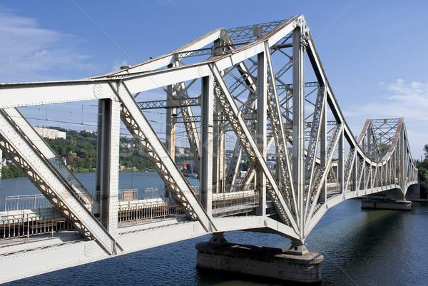 Ray köprü ünlü Lyon şehir Stok fotoğraf © vwalakte