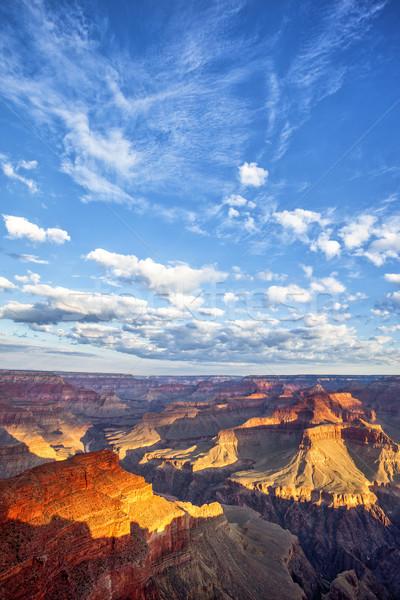 Grand Canyon céu ver nascer do sol viajar rochas Foto stock © vwalakte