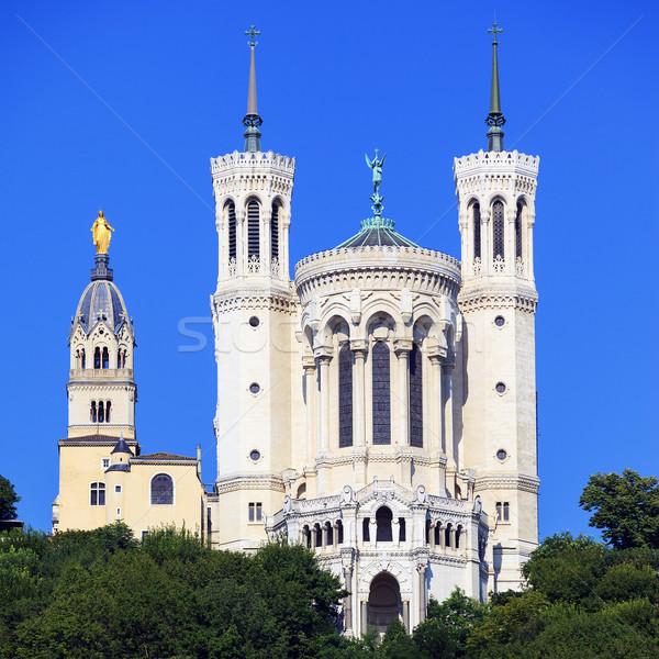 Noto basilica view Lione Francia Foto d'archivio © vwalakte