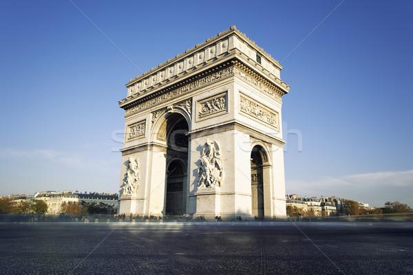 Arc de Triomphe in Paris, France Stock photo © vwalakte