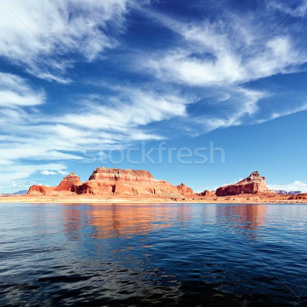 Lake Powell square Stock photo © vwalakte