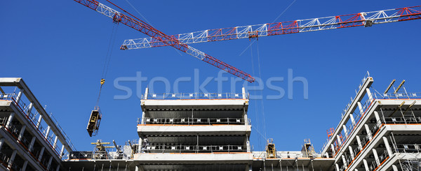 panoramic building site Stock photo © vwalakte
