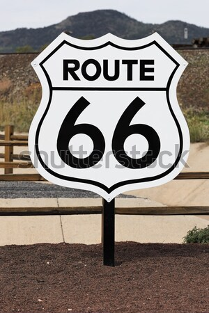 nostalgic route 66 sign Stock photo © vwalakte
