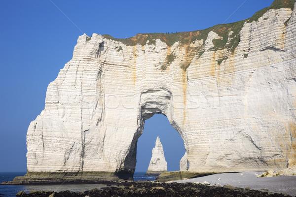Famous Etretat cliffs Stock photo © vwalakte