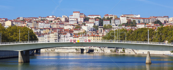 Panorâmico ver Lyon rio ensolarado verão Foto stock © vwalakte