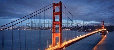 Golden Gate Bridge San Francisco luces agua carretera Foto stock © vwalakte