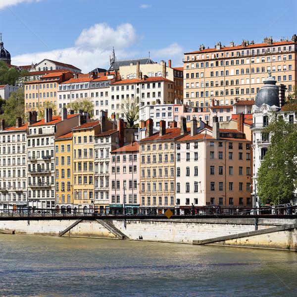 Lyon cidade imagem colorido edifícios viajar Foto stock © vwalakte