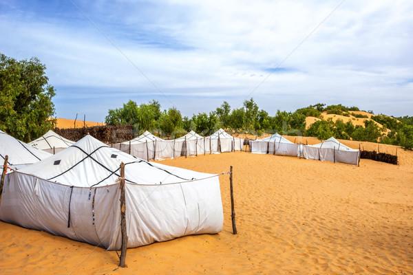 Desert camp Stock photo © vwalakte