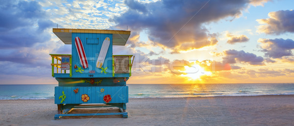 Panorâmico ver famoso Miami sul praia Foto stock © vwalakte