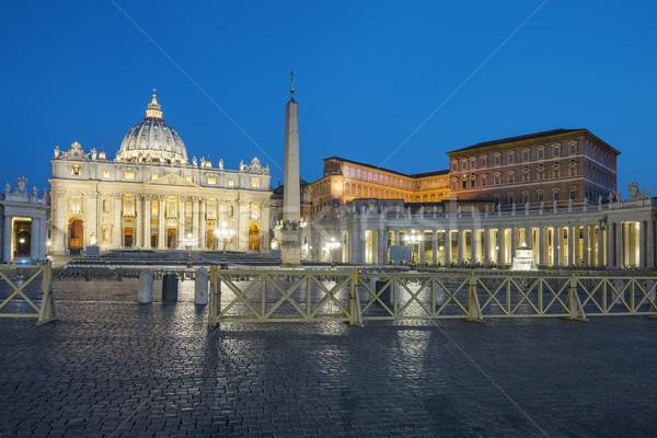 Watykan Rzym St Peters Basilica miasta noc Europie Zdjęcia stock © vwalakte