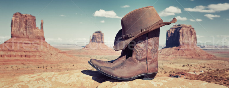 panoramic boots and hat  Stock photo © vwalakte