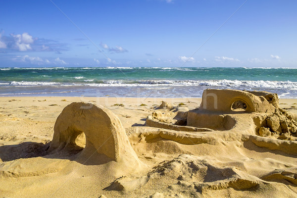 Sand Castle on Beach  Stock photo © vwalakte