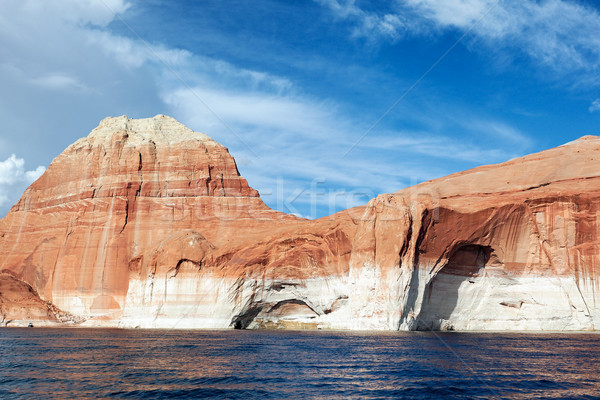 red cliffs and water of the lake Powell Stock photo © vwalakte