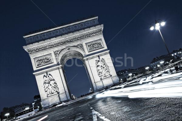 view of famous the Arc de Triomphe Stock photo © vwalakte