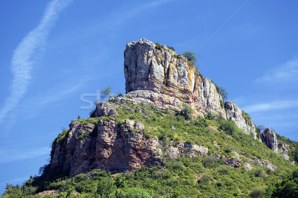 Solutre Rock, Burgundy, France  Stock photo © vwalakte