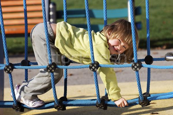 Foto d'archivio: Gioioso · bambino · giocare · colorato · parco · giochi · parco