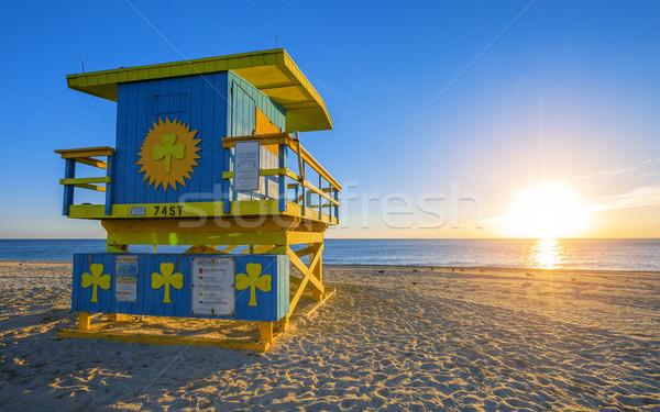 Famous Miami South Beach sunrise Stock photo © vwalakte