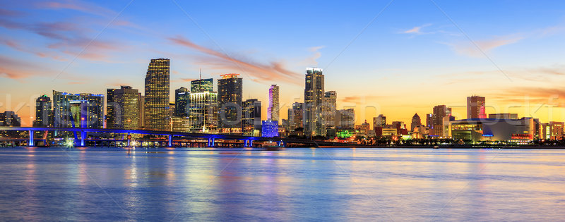 Stock photo: Panoramic sunset, Miami