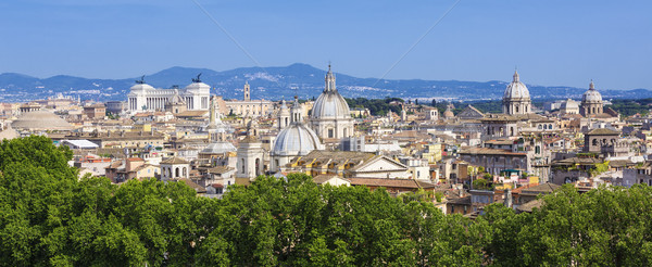 Panoramic view of Rome Stock photo © vwalakte