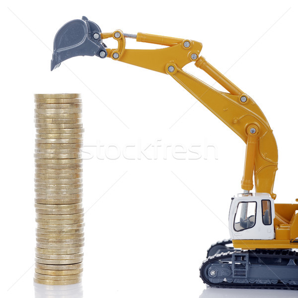 coins with digger Stock photo © vwalakte