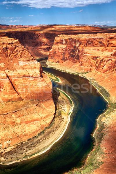 Hoefijzer Utah USA hemel water Stockfoto © vwalakte