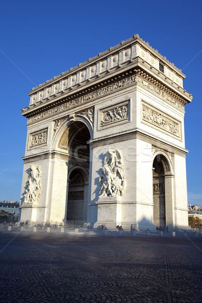 Foto d'archivio: Verticale · view · noto · Arc · de · Triomphe · Parigi · Francia