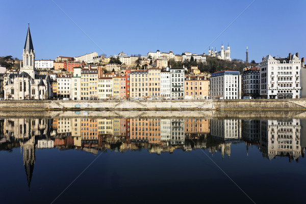 Famoso ver Lyon rio França água Foto stock © vwalakte