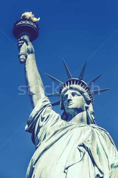 像 自由 特別 ニューヨーク 空 緑 ストックフォト © vwalakte