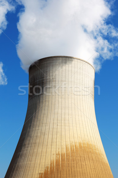 Stock photo: Nuclear power station cooling tower