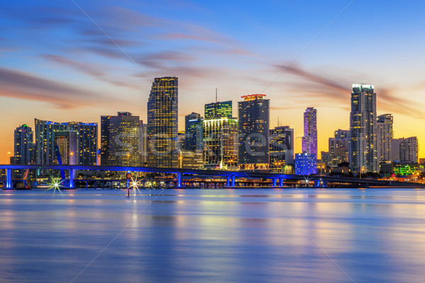 Famous cIty of Miami Stock photo © vwalakte