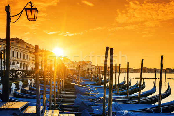 View of Venice at sunrise Stock photo © vwalakte