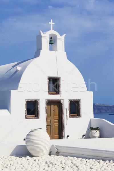 Ortodox templom hagyományos görög tenger utazás Stock fotó © vwalakte