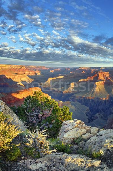 Ver famoso Grand Canyon nascer do sol EUA pôr do sol Foto stock © vwalakte