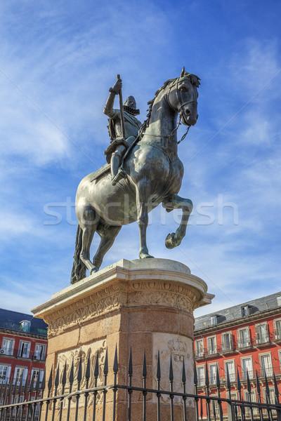 King Philip III on Plaza Mayor Stock photo © vwalakte
