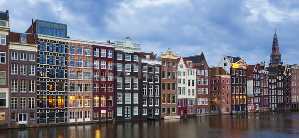 traditional old buildings in Amsterdam Stock photo © vwalakte