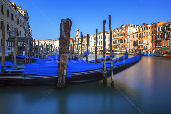 Gondolas on Grand Canal Stock photo © vwalakte
