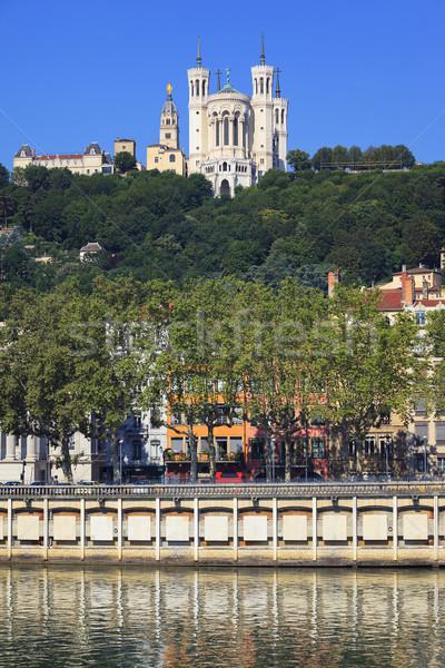 View of Notre Dame de Fourviere Stock photo © vwalakte