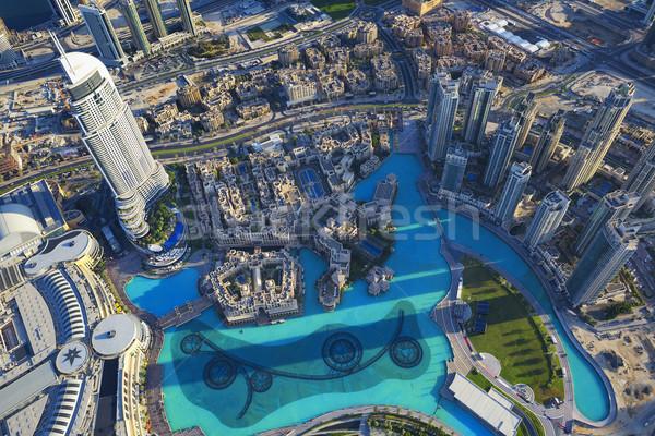 Dubai view città top torre Foto d'archivio © vwalakte